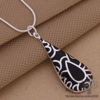 an094 проблемка цепочки и ожерелья Серра ювелирные изделия colon черный капли воды рисунок/cyralpya eobanfia