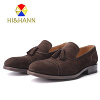 Goodyear Crafts All Handmade Men Leathers Casual Shoes Italy Fashion Tassel Loafers Bullock Style Men Flats