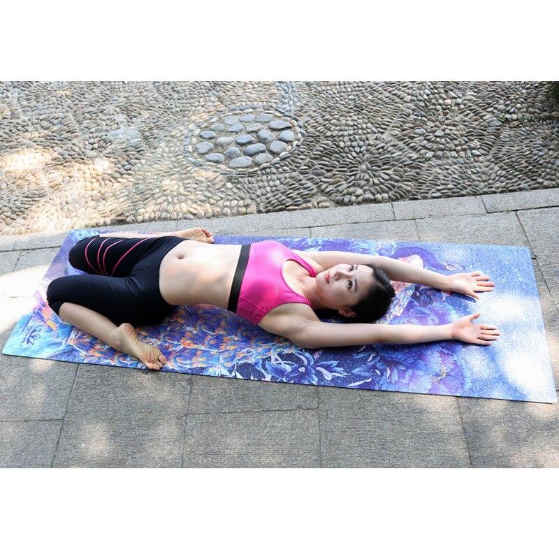 Nouveau Style 183 * CM * 61 CM * 3.5 mmcaoutchouc naturel doux respirer librement antidérapant confortable tapis de sueur Absob exercice Fitness tapis de Yoga