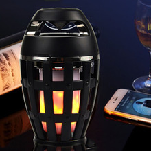 Mini Bluetooth Speaker Portable IP65 Waterproof LED Flame Wireless Speakers Loudspeaker LED Atmosphere Light For iPhone Android