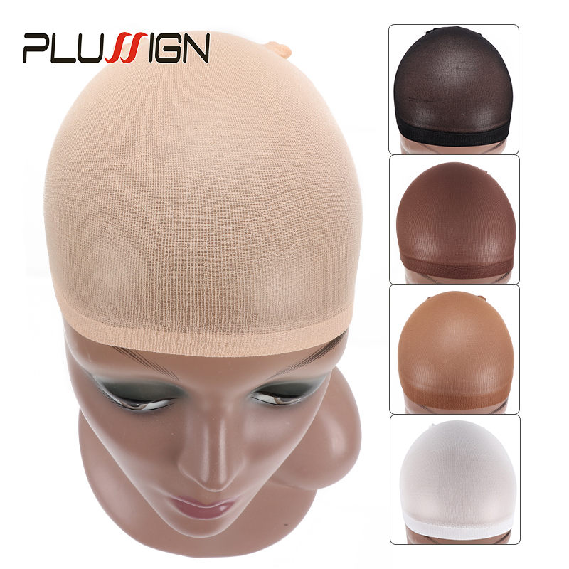2 Packs (4 Pieces) Wholesale Dream Deluxe Wig Cap Mesh Hairnet Black Beige Color Stocking Cap Wig Hair Net For Weave Extensions