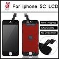 10 unids/lote calidad aaa sin píxeles muertos para iphone 5c pantalla lcd touch screen reemplazo digitalizador asamblea negro o blanco de dhl