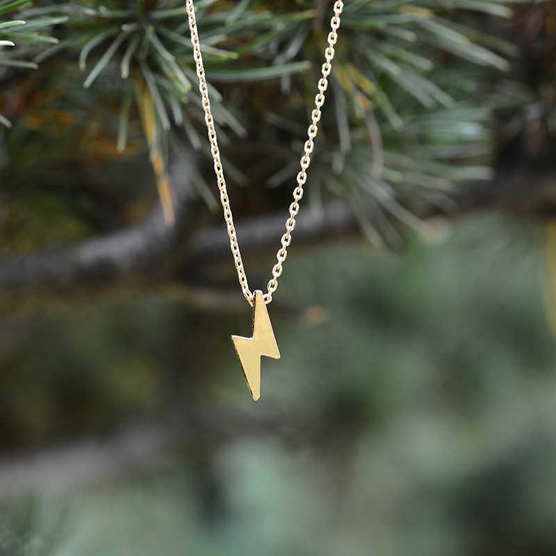 Boho модное ожерелье s 2018 молния Бабочка Золото Серебро Бронза цепь для женщин колье слоистая подвеска-ожерелье Kolye