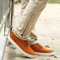 Top Marca de Moda de Los Hombres Pisos Mocasines Zapatos de Gran Tamaño Genuino gamuza de Cuero 48 de Los Hombres Zapatos Oxfords Casual Otoño Zapatos Hombre 2A