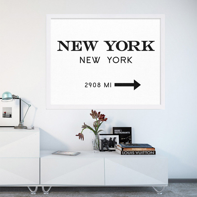 Aliexpress.com : Buy New NYC New York City Canvas Painting Fashion ...