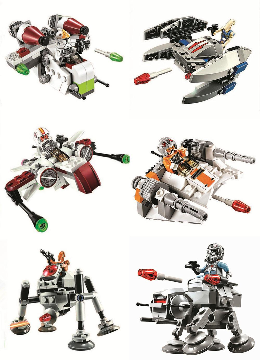 Bela 10359 Stars Wars The Avengers Starfighter gift 6pcs/lot Building Blocks Set Model Toys Compatible With ...