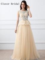 Robe De Soiree Vestido De Festa Elegant Formal Evening Dress Long Lace A Line Floor Length