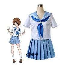Убить ла убить Mankanshoku Мако платье с топом костюм моряка форма наряд аниме Костюмы для косплея