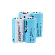 3.2V 500mAh 16340 Batteries Rechargeable LiFePO4 IFR CR123 Battery For Laser Pen Flashlight Rechargeable 16340 CR123A Battery soshine lifepo4 3 2v 600mah rechargeable cr123 batteries black 2 pcs
