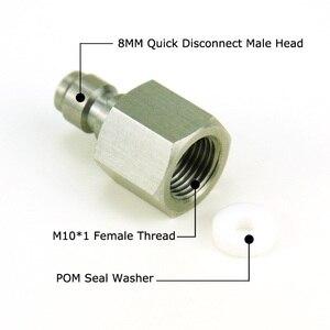 Image 5 - Nowy paintball airsoft PCP wiatrówka do szybkiego rozłączenia wąż zasilający adapter gwint 1/8NPT i 1/8BSP i M10 * 1 złączka ze stali nierdzewnej