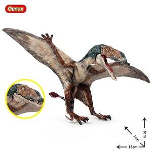 Image 1 - Oenux nowy jurajski drapieżnik mięsożerne otwarte płytki pterodaktyl stałe pcv dinozaur świat Model zwierzęcia Action figurki zabawki dla dzieci