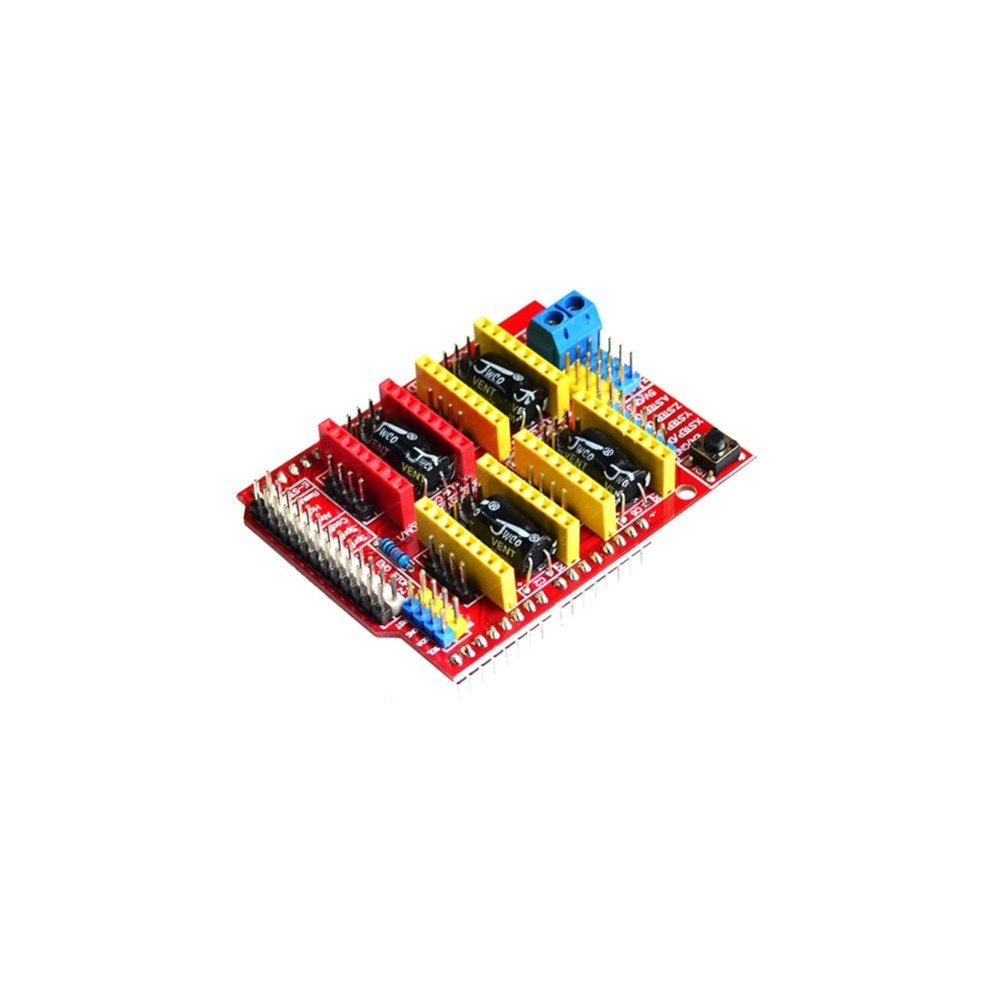 ShenzhenMaker A4988 Driver CNC Shield Expansion Board for Arduino CNC gaming arduino joystick shield expansion board black multicolored