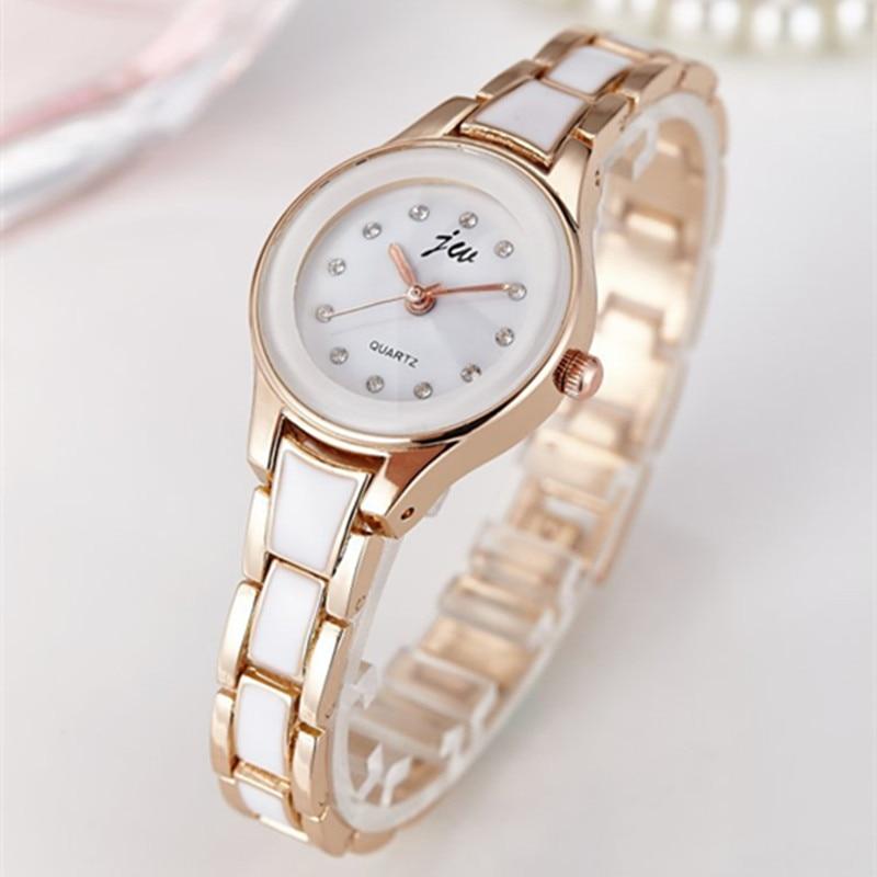 2019 Brand Women Watches Alloy Crystal Wristwatches Women Dress Watches Gift Women Gold Fashion Luxury Quartz Watch Female Clock