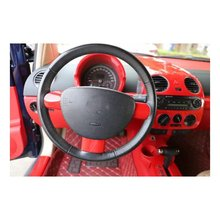 Подходит для Volkswagen Beetle 2003-2010, 3 шт., красный АБС-пластик, покрытие рулевого колеса для салона автомобиля, накладка, молдинги, аксессуары для стайлинга автомобилей