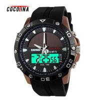 2016 New Brand Solar Energy Watch Digital Quartz Men Sports Watches Multi Functional Outdoor Military Wristwatches