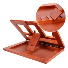 Adjustable Angle Reading Bracket Table Home Lectern Stationery Office Drawing Childern Tablet Book Stand Student Foldable Wooden(China)