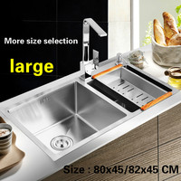 Free Shipping Large Kitchen Sink Fashion Durable Double Trough 304 Stainless Steel Hand Made Hot Sell