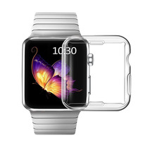 for Apple Watch 3 Case Buit in TPU Screen Protector All-around Protective Case High Definition Clear Ultra-Thin Cover for Appl ashei watch accessories for apple watch screen protector tpu case all around protective 0 3mm ultra thin cover for iwatch 3 2 1