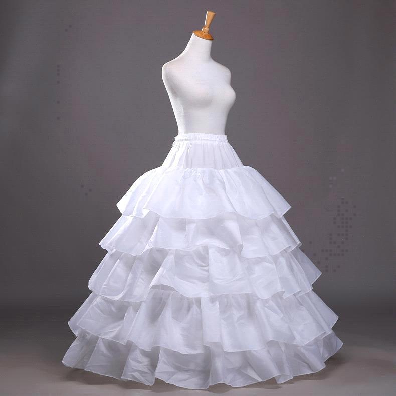4 aros 5 Bola con capas vestido enaguas negro enaguas Crinoline bajo la falda con volante grande accesorios de la boda de tul llevan