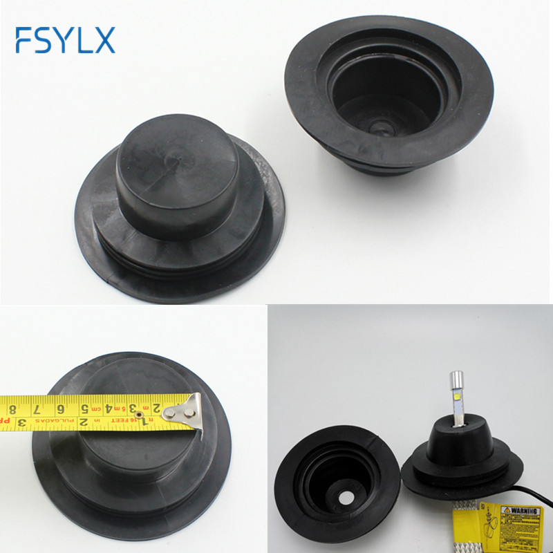 FSYLX HID LED headlight dust seal cover rubber waterproof dustproof For Car Motorcycle LED Xenon HID kit h1 h7 h11 h10 9005 9006