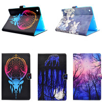 Cover Case For Funda Apple IPad 2 Coque Fashion Cartoon Shockproof Tablet Wallet Cute Case For