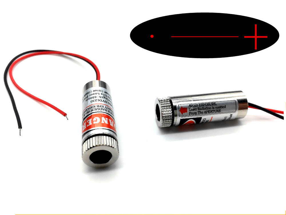 HLM1230 . + Focusable 650nm 5mW Red Laser Module 12MM diameter For presentations measurements DIY projects