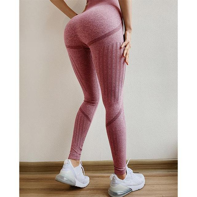 f1d3b6dfd6758d 2019 Women Hip Push Up Seamlessly Sexy Leggings Mesh High Waist Fitness Yoga  Pants Sexy Peach Hip Jogging Yoga Sports Pants
