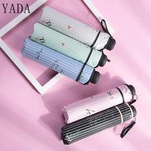 YADA New Stripe Design Umbrella Cute Flower Pattern Folding Umbrellas For Women Men Anti-UV Gift Windproof Rainy YD137