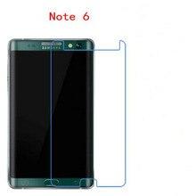 Atacado Vidro Temperado protetor de tela do telefone para Samsung Galaxy NOTE 6 (NÃO COBERTURA COMPLETA)