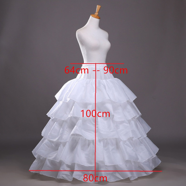Petticoat Tulle Wedding Ball Gown Black White Under Skirt Crinoline Long petticoats Skirt Bridal Accessories 2017