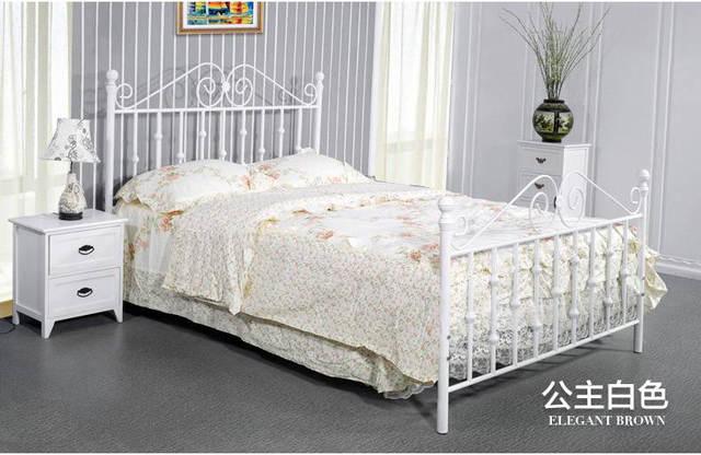 US $690.1 |moderno , metallo in ferro battuto letto , singolo o doppio .  larghezza ( 1 m a 1.8 m ) * 2 metri di lunghezza , può essere ...