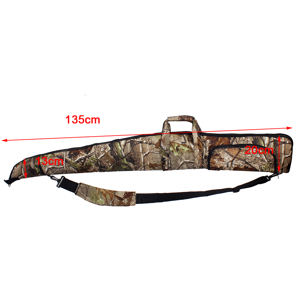135cm Tactical Hunting Bags Holster Soft Foam Padded Rifle Protection Bionic Camo Military Airsoft Shoulder Backpack Gun Case cs force tactical shotgun scabbard holster military army gun bags shell holder rifle case hunting backpack single shoulder molle