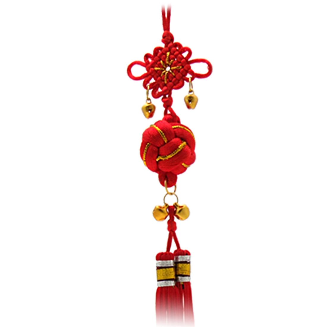 TFBC Oriental Ball ChInese Knot Tassel Ornament With Bells