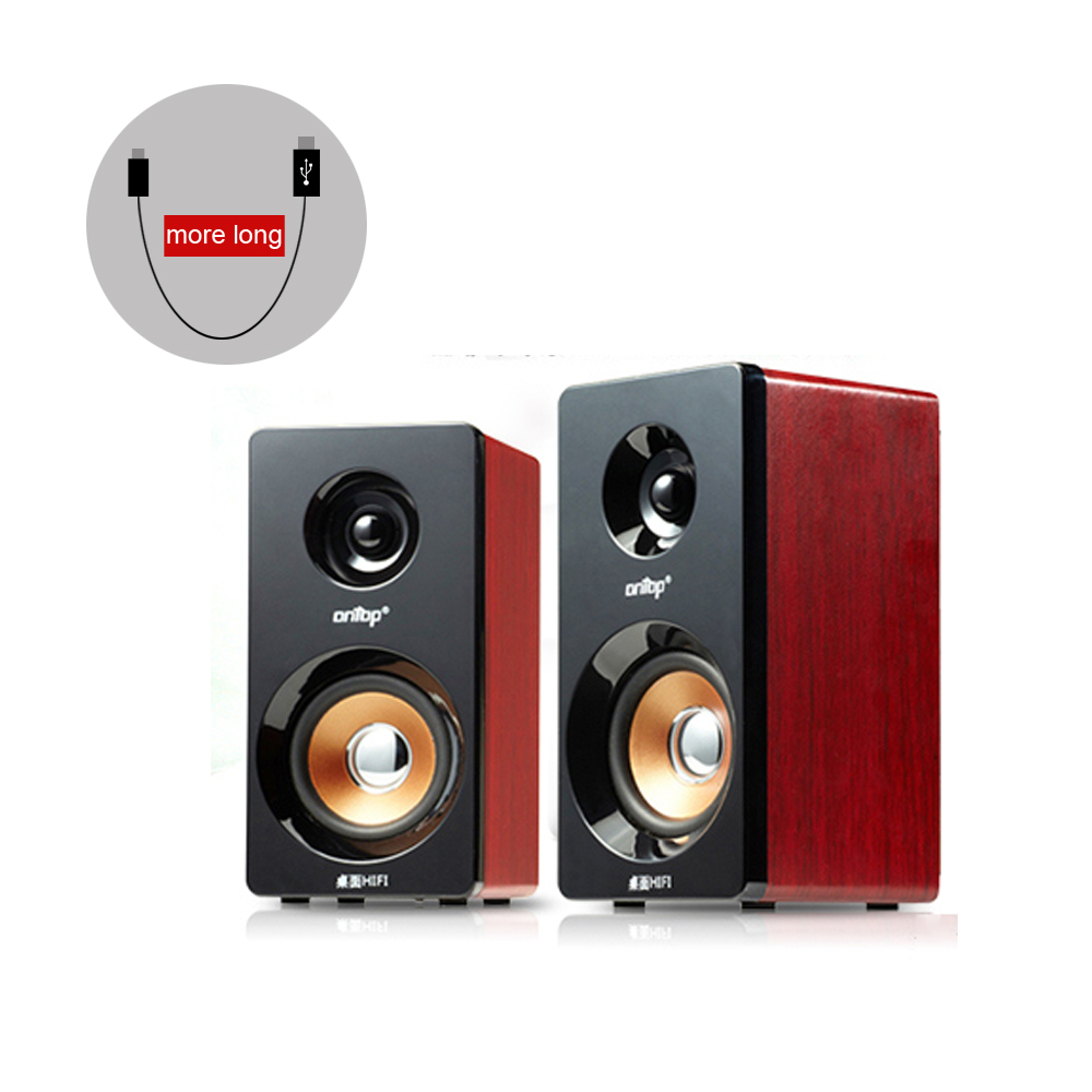 Free ship Wooden MINI speaker USB2 0 Low bass loudspeaker for Radio Computer Laptop Phone Tablet