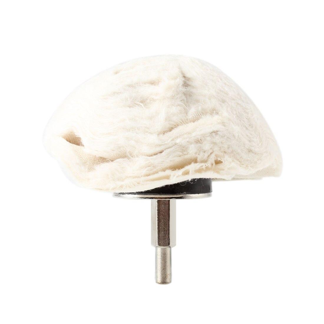 High Quality 4in 100mm 100% Cotton Dome Polishing Mop Buffing Wheel Polish Pad Polisher Drill