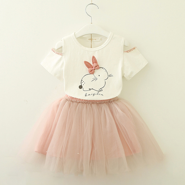 c11d93991 2018 Brand New Girl Clothing Sets Kids Girls Clothes sets Lovely Cartoon  Cat Children Clothing Toddler
