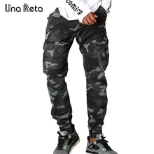 Una Reta New Streetwear Camouflage Mens Pants 2017 Fashion Casual Autumn Pencil Pants Street style Hip Hop Mens Jogger Trousers(China)