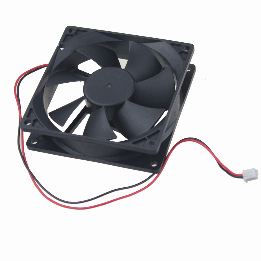 5 Pieces Gdstime PC Fan 24V Brushless DC Cooling Fan 92mm 90mm 92x25mm 2 Wire 2 Pin 9cm Computer Case Cooler gdstime 2 pcs 4010 12v 40x40x10mm brushless dc fan 40mm pc computer case cooling fan 2 0 2 pin cooler 4cm 9 blades