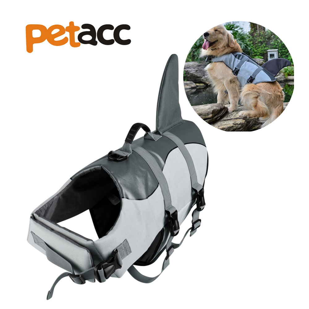 Petacc Pet Dog Swimming Preserver lothes Summer Swimwear Dog Life Jacket Safety Clothes Life Vest Collar Harness Saver