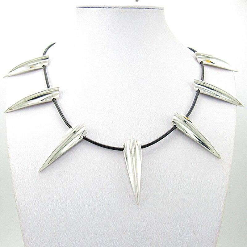 2018 neue Avengers Black Panther Halskette Wakanda König T'Challa Schwarz Panther Cosplay Halskette