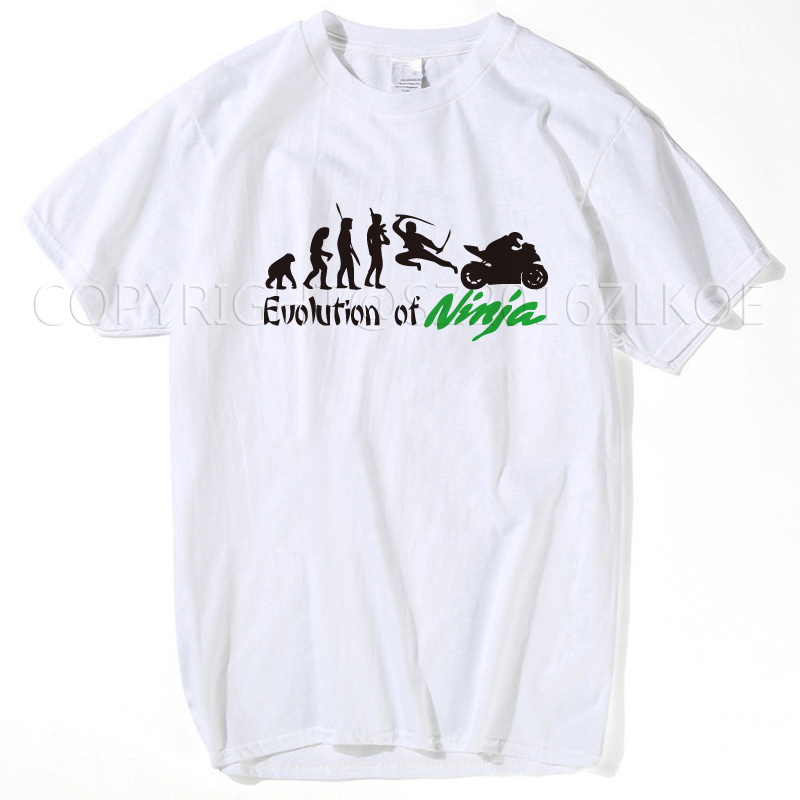 men tops 2018 summer fashion t shirt o-neck comfortable kawasaki NINJA 250R ZX-10R ZX-6R man t-shirt s-xxxl summer white tops