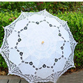 Envío Gratuito de Encaje Manual de Apertura Accesorios de Boda Nupcial del Paraguas Del Parasol Para La Boda Nupcial de la Ducha Paraguas SA853