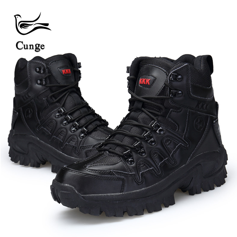 eb7f57256abde Hot Sale Men s Desert High-top Military Tactical Boots Men Outdoor Combat  Army Boots Botas Militares Sapatos Masculino Boots