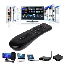 цена на New 2.4GHz Fly Air Mouse T2 Remote Control Wireless 3D Gyro Motion Stick For 3D Sense Game PC Android TV Box Google TV Smart TV