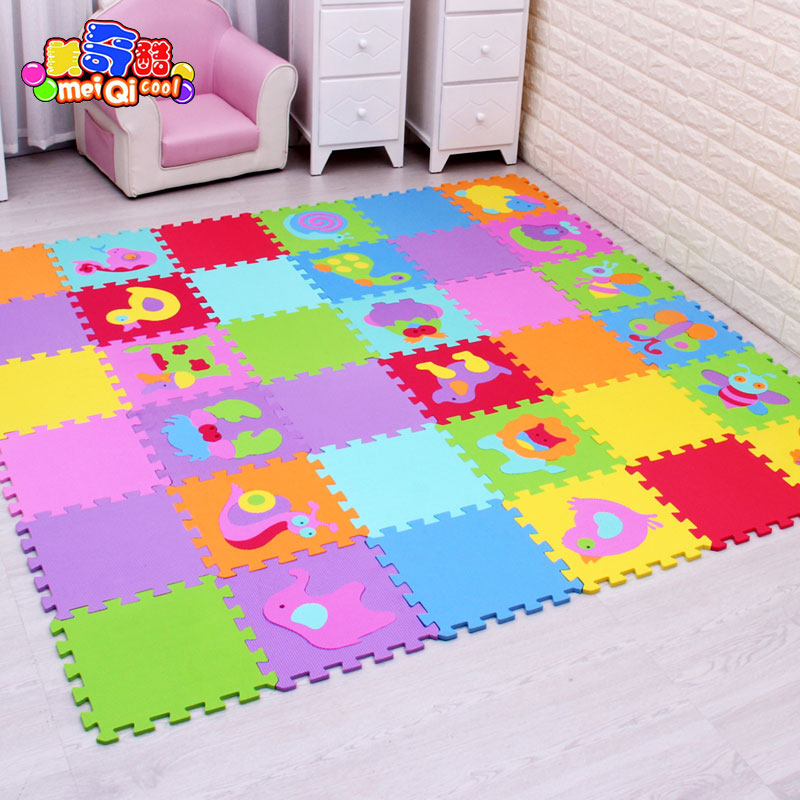 Tappeto Puzzle Toys Center Cartoon Animal Pattern Carpet Eva Foam Puzzle Mats Kids