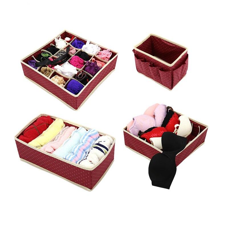 Nonwoven Underwear Storage Box Sock Bra Underwear Ties Drawer Divider Organizer Case Closet Finishing Storage Holder Container