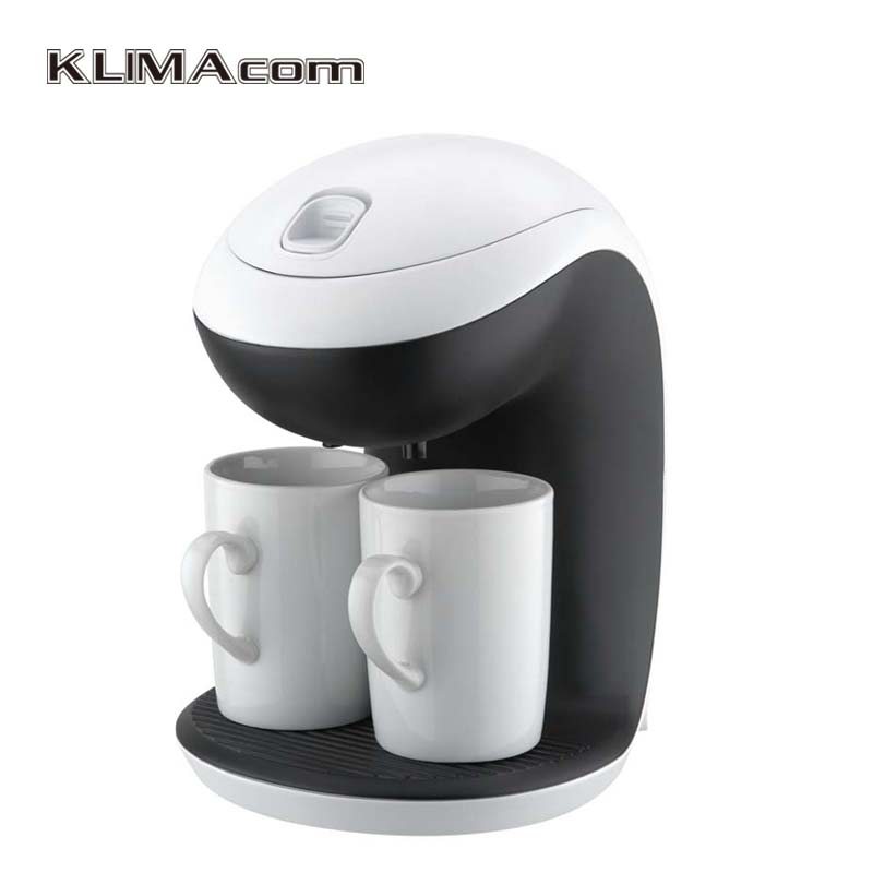 Drip coffee maker 2 Cups Small Kitchen appliances Mini Cafe machine Electric for Home, Office ...