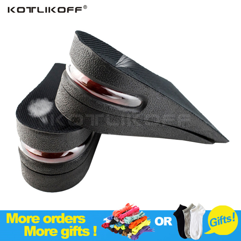 2-Layer 5CM Height Increase Insole Adjustable Ergonomic Design Air Cushion Invisible Lift Pads soles for shoes men women 2016 2 pcs invisible shoe taller insole 6 color increasing height short helper half lift air 2 5cm cushion insert 6 colors