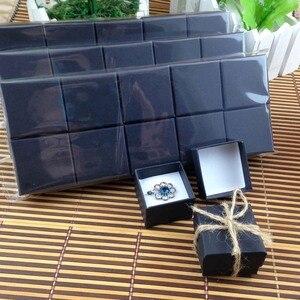 Image 1 - Nowy matowy czarny pierścień Box wysokiej jakości Mult Fuction dla pierścienia również może umieścić kolczyk (własne logo koszt dodatkowe MOQ: 1000 sztuk)
