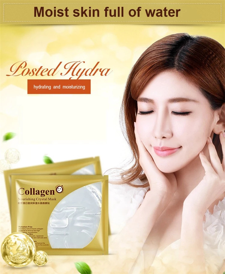 Bioaqua 24K Gold Collagen Face Mask Crystal Gold Collagen Face Mask Moisturizing Anti-aging Face Skin Care Korean Cosmenics Mask 3